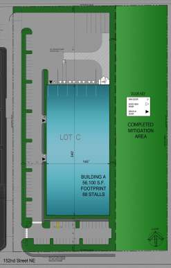 Future building site plan